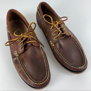 Polo Ralph Lauren Leather Boat Shoe Size 10  EUC